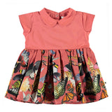 Molo coral butterfly print baby girl dress