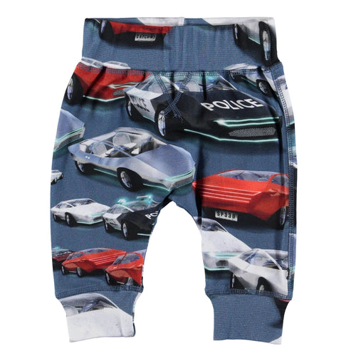 Molo Baby car print knit baby boy pants