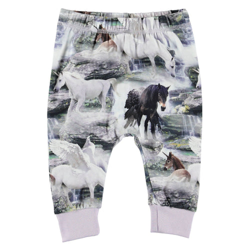 Molo unicorn print baby girl knit pants