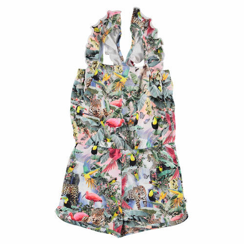 Molo Kids jungle print summer sleeveless girls romper