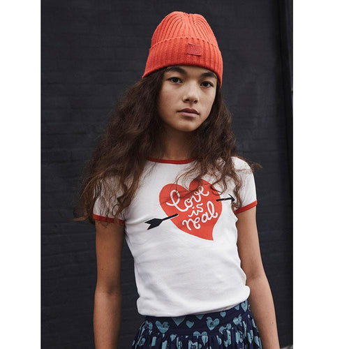 Molo kids love is real short sleeve girls graphic tee