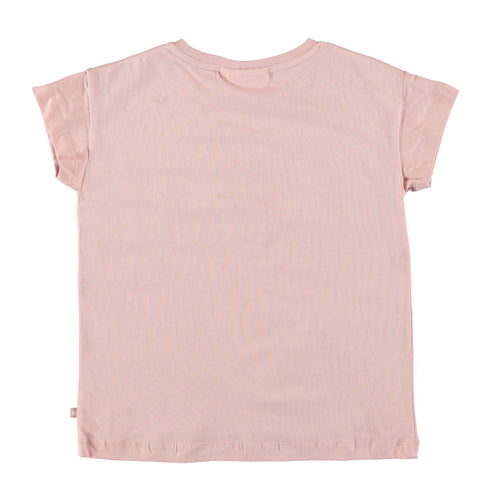 Molo kids pink short sleeve girls graphic tee