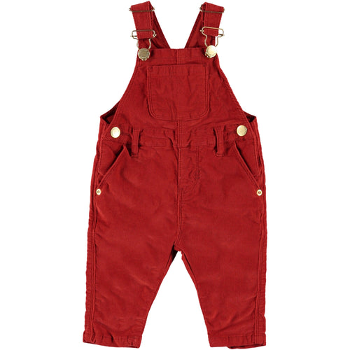 Molo red baby girl overalls