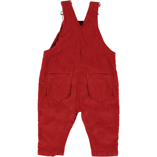 Molo red baggy baby girl overalls