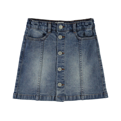 Molo button front denim skirt for girls