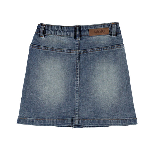 Molo button front girls denim skirt