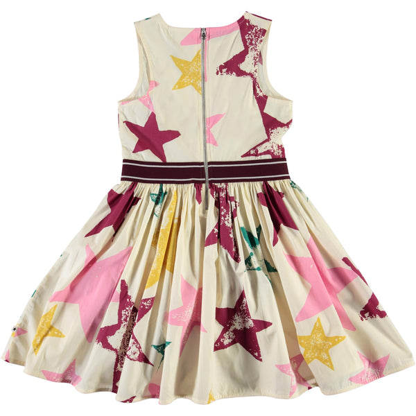 Molo sleeveless star print girls party dress