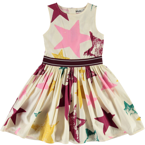 Molo sleeveless star print party dress for girls