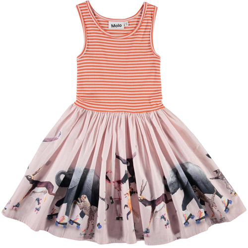 Molo roller skate sleeveless girls party dress