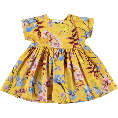 Molo yellow floral dress for baby girl