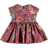 Molo pink floral collared baby girl dress