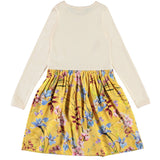 Molo long sleeve yellow floral girls dress