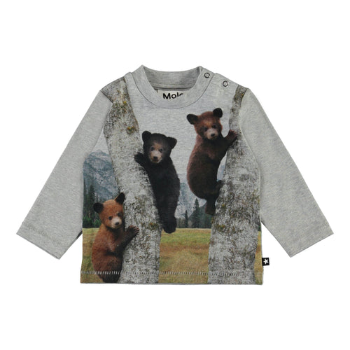 Molo long sleeve bear graphic baby boy t shirt
