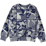 Molo football print boys pullover sweatshirt
