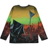 Molo colorful long sleeve dragon boys shirt