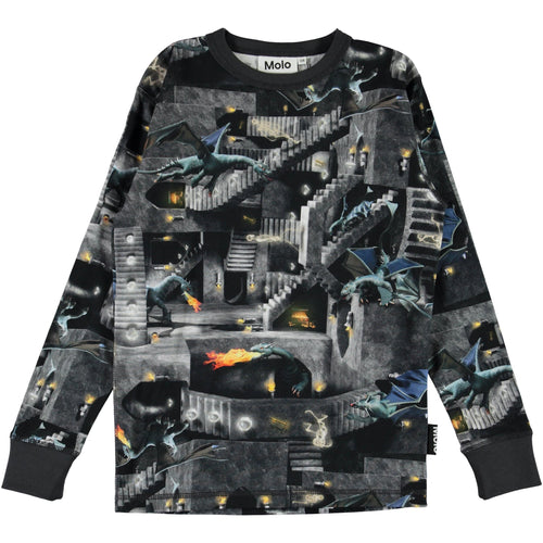 Molo dragon long sleeve boy t shirt