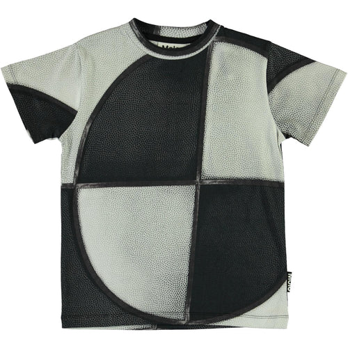 Molo black and white graphic boys t shirt