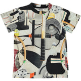 Molo sports gear print short sleeve boys t shirt