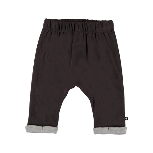 Molo brown knit baby boy pants