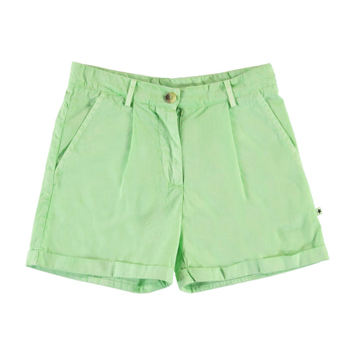 Molo light green twill girls shorts