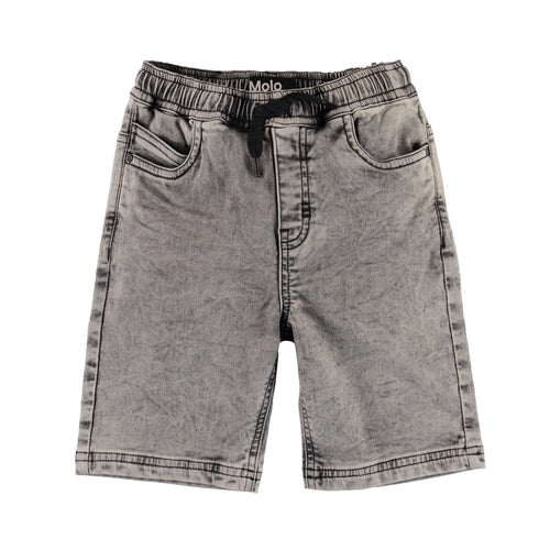 Molo grey drawstring boys denim shorts