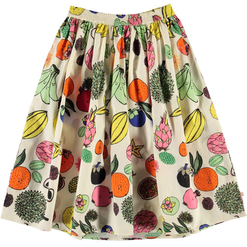 Molo girls bright fruit print girls maxi skirt