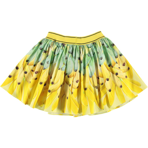 Molo banana print yellow girls skirt