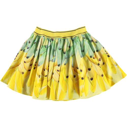 Molo photorealistic banana print yellow girls skirt