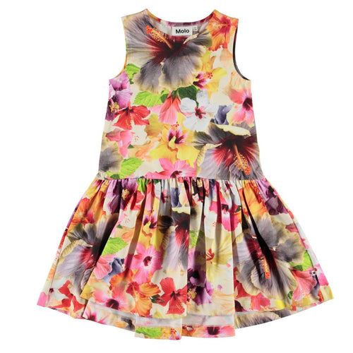 Molo tropical flower sleeveless girls dress