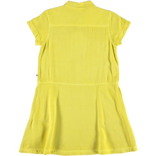 Molo yellow short sleeve polo girls dress