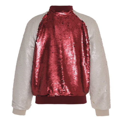 Molo red and pink sequin baseball girls jacket