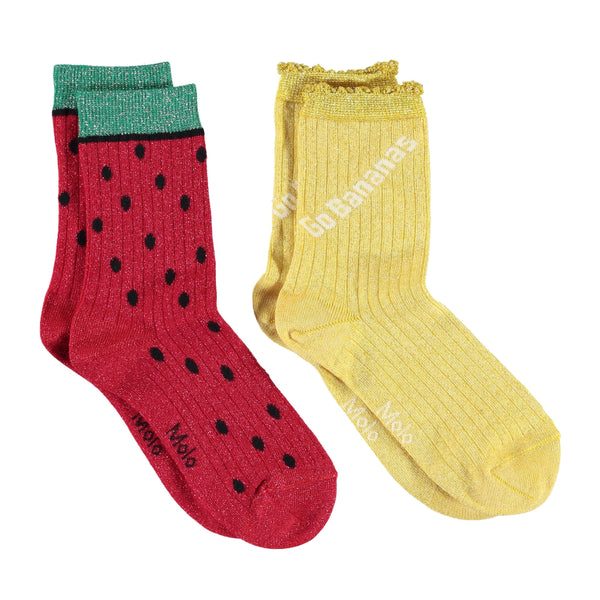Molo fruit yellow and red girls socks