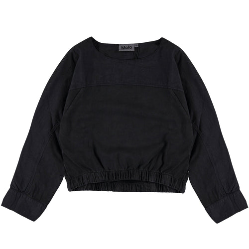 Molo black long sleeve slouchy girls tee
