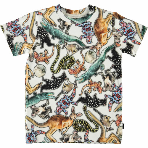 Molo short sleeve animal print boys t shirt