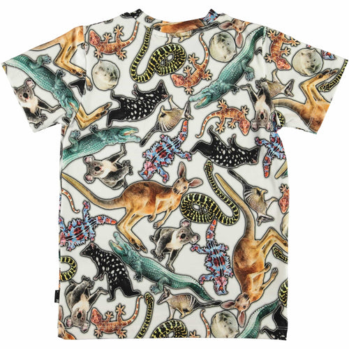 Molo short sleeve animal print boys tee
