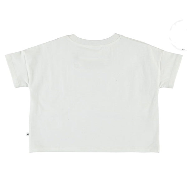 Molo white short sleeve sunset girls graphic tee