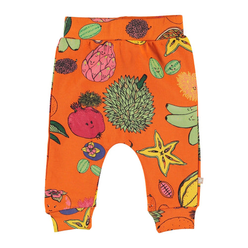 Molo fruit print orange baby girl pants