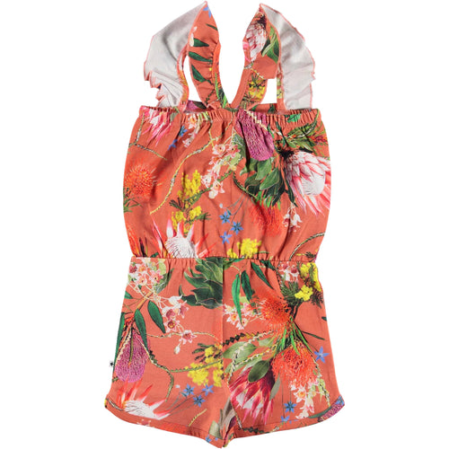 Molo tropical flower print girls jumpsuit