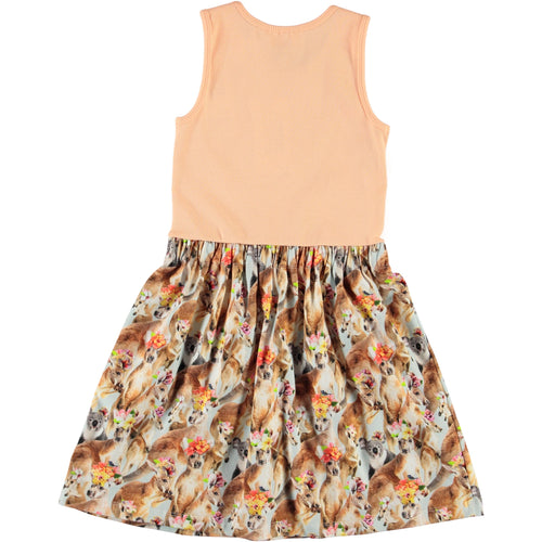 Molo kangaroo print girls sundress