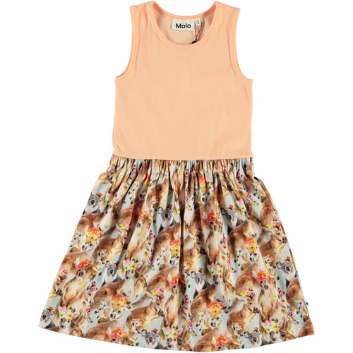 Molo kangaroo print sleeveless girls dress