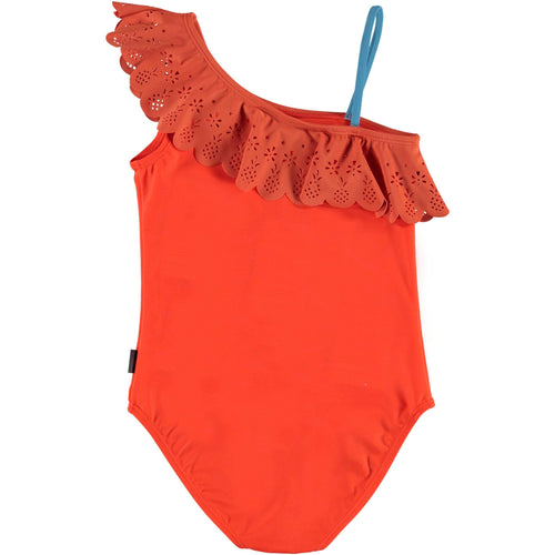 Molo coral one piece girls swimsuit