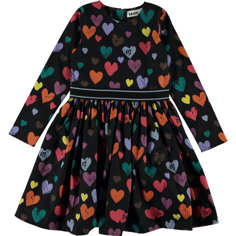 Molo Heart Print Girls Dress