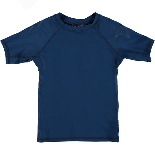 Molo short sleeve navy blue boys rash guard