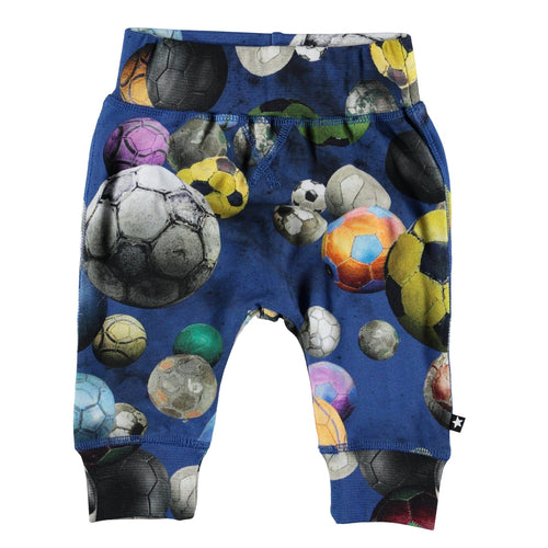 Molo kids soccer print knit baby boy pants