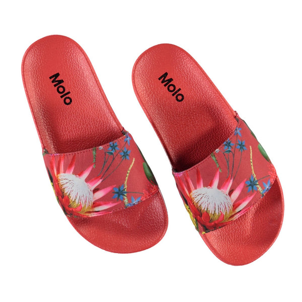 Molo tropical flowers girls slide sandals