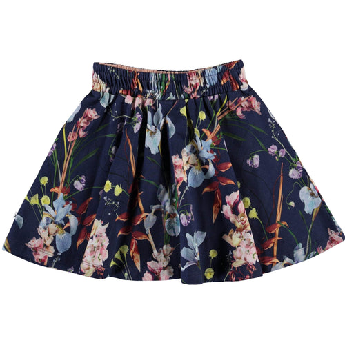 Molo blue floral skirt for girls