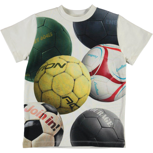 Molo soccer ball short sleeve boys t shirt