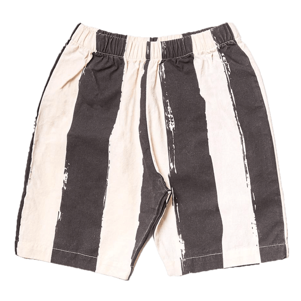 Noe and zoe black and white stripe boys shorts