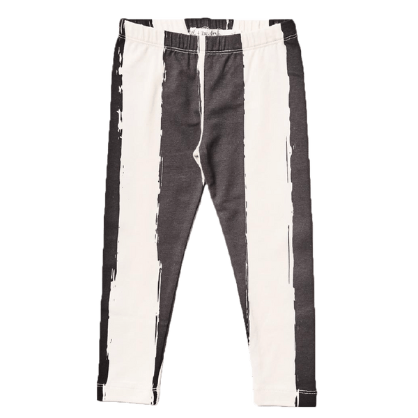 Noe and zoe black and white stripe girls leggings
