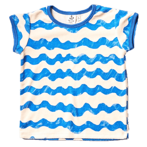 Noe and zoe blue waves short sleeve girls t-shirt